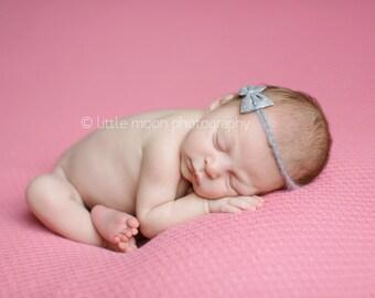 Newborn Baby Girl Bow Halo Headband Photography Prop