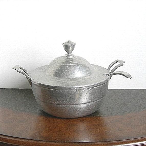 Vintage Pewter Soup Tureen Casserole Armetale By