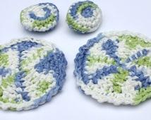 Crochet Cotton Spa Set, Crochet Tawashi Face Cloths and Puffs