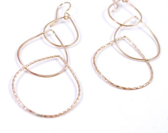 Three Paisley Drop Earrings