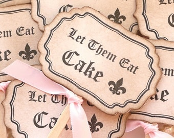 Baby Shower Favors, Wedding Cakes, Wedding Cupcakes, Cupcake Toppers, Let Them Eat Cake, Marie Antoinette Theme, Pink Wedding Favors,