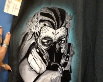 day of the dead  Mens Gas mask shirt