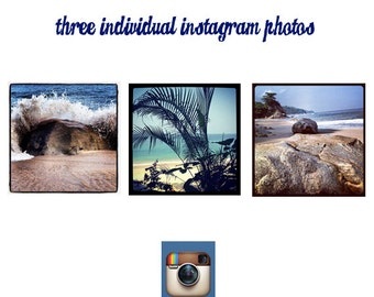 Mix and Match Three 5x5 Instagram Photos of your choice