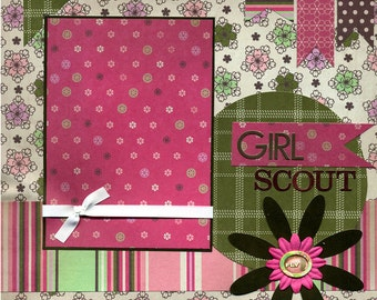 Girl Scout - 12x12 Premade Scrapbook Page