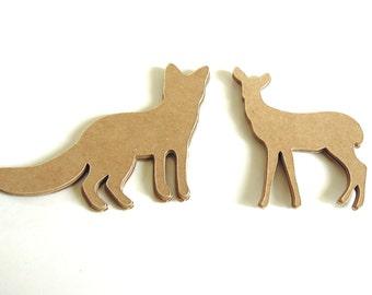 Fox and Deer - Set of 12 Die Cuts