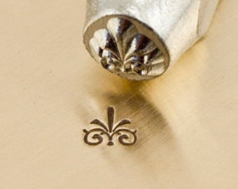 tiny Design Stamp - FLOURISH G- 3mm stamped image by ImpressArt -  includes How to Stamp Metal tutorial