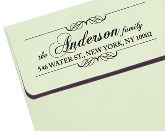 """Personalized Eco Friendly Self Inking Stamp Wedding Gift, Return Address, Etsy Shop Labels """"Calligraphy Names18"""""""