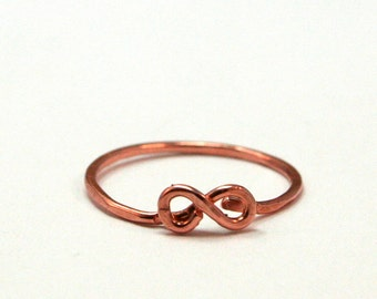 Infinity Knuckle Ring - Copper Knuckle Ring - Eternity Symbol