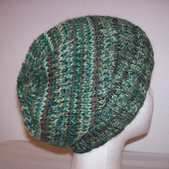 Wool Hipster Beanie Slouchy Knit Hat Knitted Hipster Toque