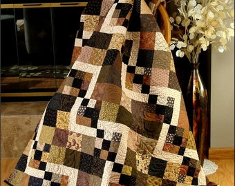 Simply Delightful Quilt Pattern in 6 sizes - PDF #431e