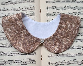 Detachable collar - Peter Pan - paisley print