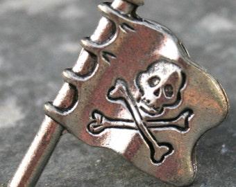 Tie Tack - Pirate Flag