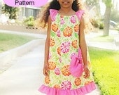 PDF Sewing Pattern Angel Sleeve Top and Dress nb-12 girls Instant Download
