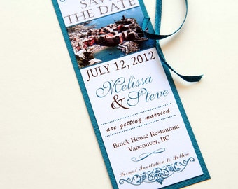 Destination Wedding Bookmark Save the Date - Cinque Terre, Italy