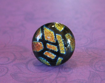 Geometric Tie Tack, Dichroic Lapel Pin, Fathers Day, Mens Jewelry - Jonathan - 014 -3
