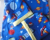 Spaceships and Planets Snugglie Bags & Blanket Set for Rats, Hedgehogs, Guinea Pigs, Chinchillas