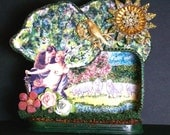 "Altered Altoid Tin Assemblage Art    ""A Beautiful Day"""