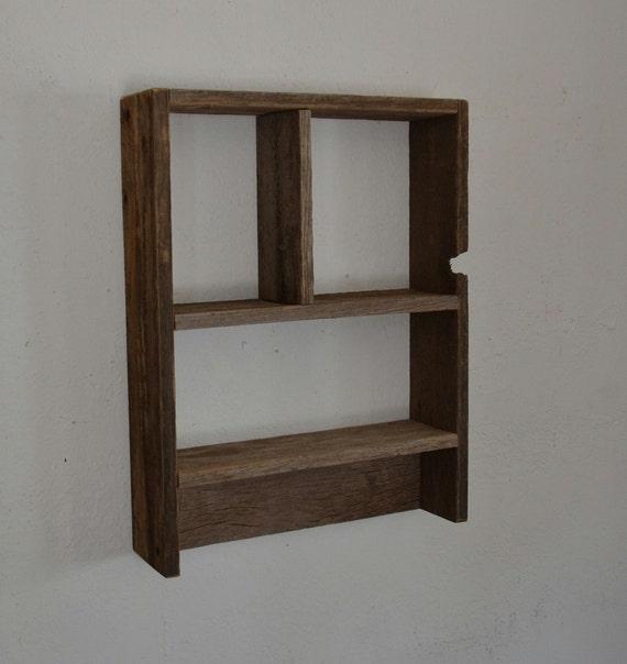 Rustic Barnwood Wall Shelf 15 X 19 Wonderful Patina By