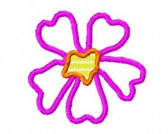 Daisy  Applique Letzrock Machine Embroidery Designs...2568