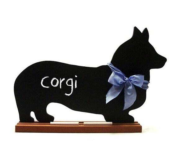 Corgi Chalkboard, Chihuahua Chalkboard, Long-haired Chihuahua Chalkboard, Miniature Pinscher Chalkboard or Basenji chalkboard
