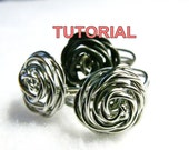 TUTORIAL - ADJUSTABLE Wire Wrapped Rose Ring