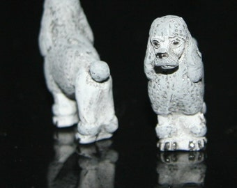 Ceramic Grey Poodle Bead