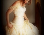 Romantic Victorian Lace Wedding Dress with Corset - Bohemian Victorian Rustic Weddings