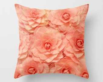 Pink Flower Pillow Camelia Pillow Cover Flower Pillow Pink Flower Print Spring Camelia Sweet Flower Photography Home Decor