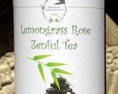 Lemongrass Rose Herbal Tea, Tisane, Tea in Tin, Gift Tea, Loose Tea, Caffeine Free, Sugar Free