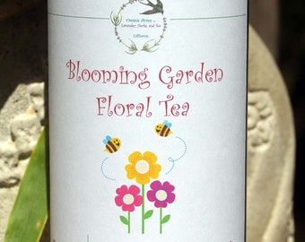 Herbal Tea, Blooming Garden - Tea, Tisane, Tea in Tin, Gift Tea, Loose Tea, Caffeine Free, Sugar Free