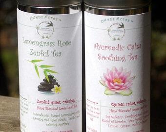 Tea Gift Set, Tisane, Tea in Tin, Gift Tea, Loose Tea, Caffeine Free, Sun Tea, Sugar Free, Yoga, Meditation, Zen