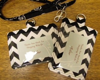 Horizontal or Vertical ID Pouch ID Holder w/ Back Pocket chevron colors for your lanyard 70 Fabrics, reunion badge, Staff ID,  Pouch, Staff