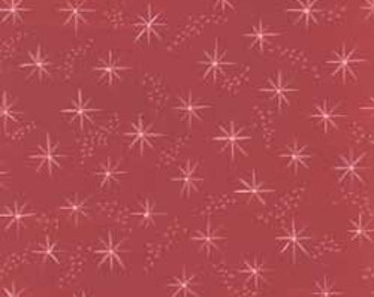 1 yard of Toybox Red with stars by Clothworks fabric