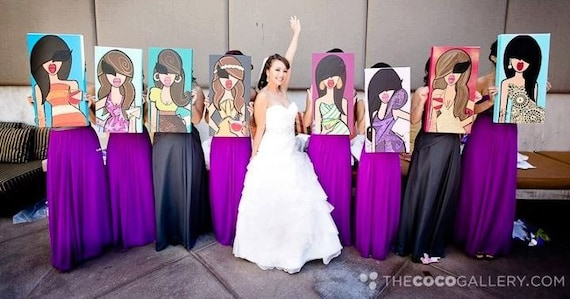 Twiggy Originals Custom Bridesmaid Paintings and Gifts