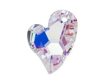 Destash 6 Swarovski 6261 17mm Designer Edition Devoted to U Heart Pendant