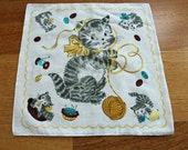 Kitten Cotton Handkerchief