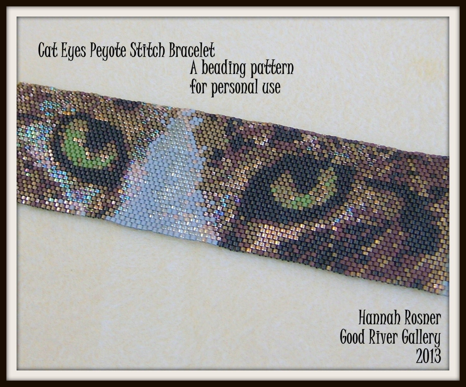 Bead Pattern Cat Eyes Beaded Bracelet Peyote Stitch Tutorial