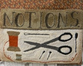 NOTIONS - primitive punch needle PATTERN - from Notforgotten Farm