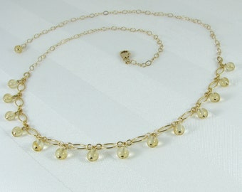 Citrine and Gold-Filled Chain Necklace