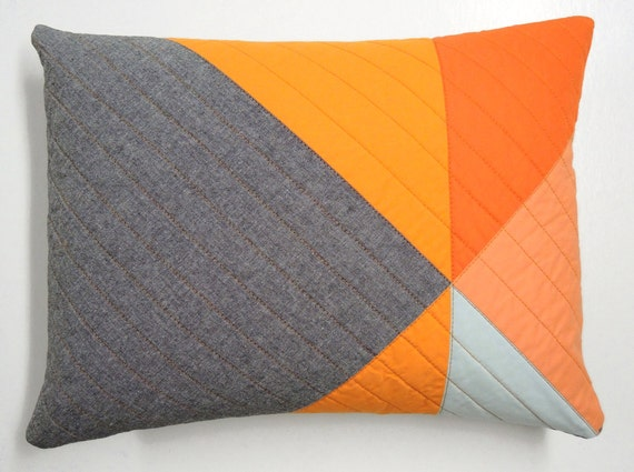 Modern Pillows Etsy : Items similar to Modern Lumbar Pillow - Pinwheel (B) on Etsy