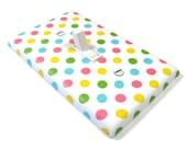 Pastel Rainbow Polka Dots Light Switch Cover Girls Nursery Decor Bedroom Polka Dot Pattern Print