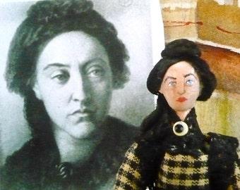 Christina Rossetti Doll Miniature Famous Poets Victorian Era