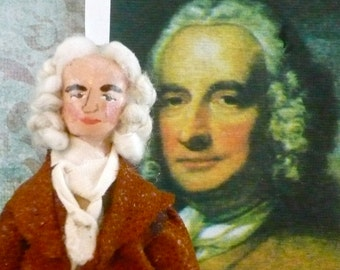 Writer Doll Henry Fielding Art Miniature Author of Tom Jones