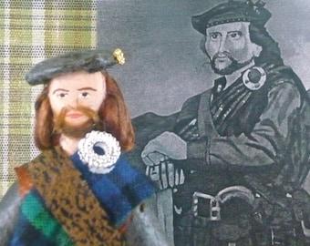Rob Roy Scottish History Doll Miniature Art Collectible