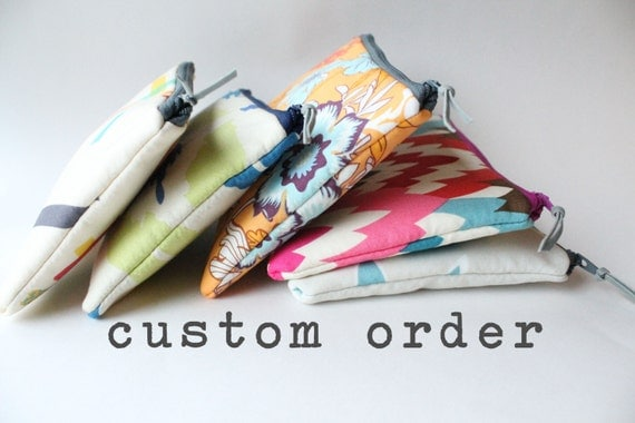 RESERVED for Kristen - Custom Personalized Large Cosmetic Bags