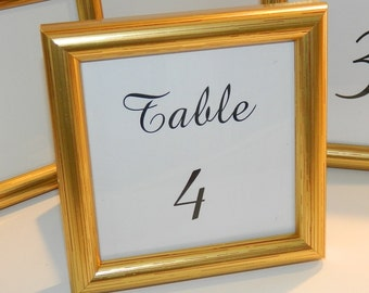 special small gold frame for wedding table numbers party favors gifts 4 x 4 free ship