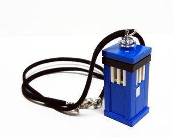 Who Blue Box Necklace