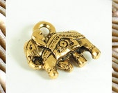 Elephant charms, brass charms, brass elephant charms, brass charms