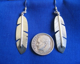 Silver Eagle Wing Feather earrings