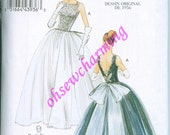 1956 Vogue 8729 Sewing Pattern Vintage styled Size 6-8-10-12 reissue Ball Dress Gown Evening Full